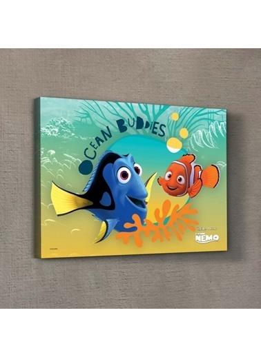Disney Nemo & Dory-2 50x70 cm Kanvas Tablo Renkli